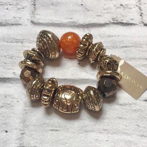 Gold & Orange Bracelet